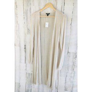 Eileen Fisher Linear Sleek Tencel Long Cardigan